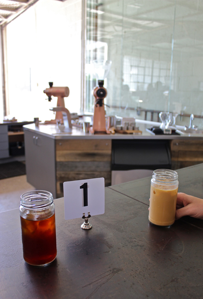 Coffee at Bar Nine Collective in Culver City