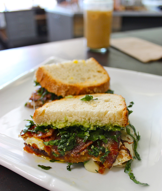 Breakfast Sandwich at Bar Nine Collective in Culver City