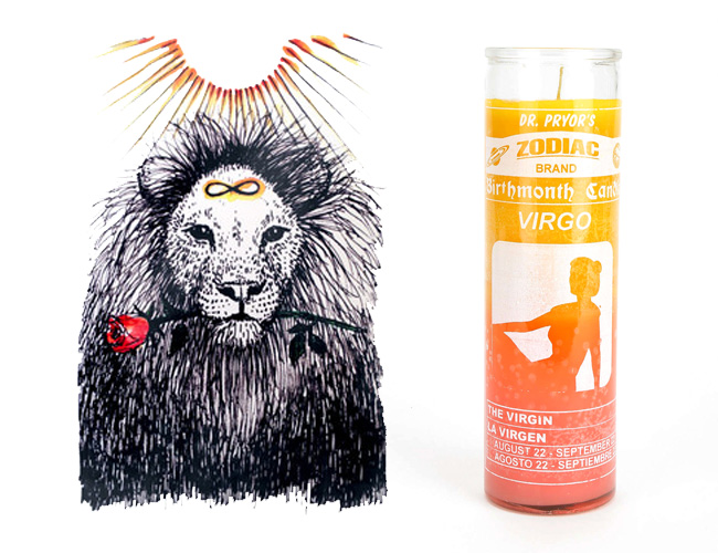 Wild-unknown-strength-print-and-urban-outfitters-zodiac-candle