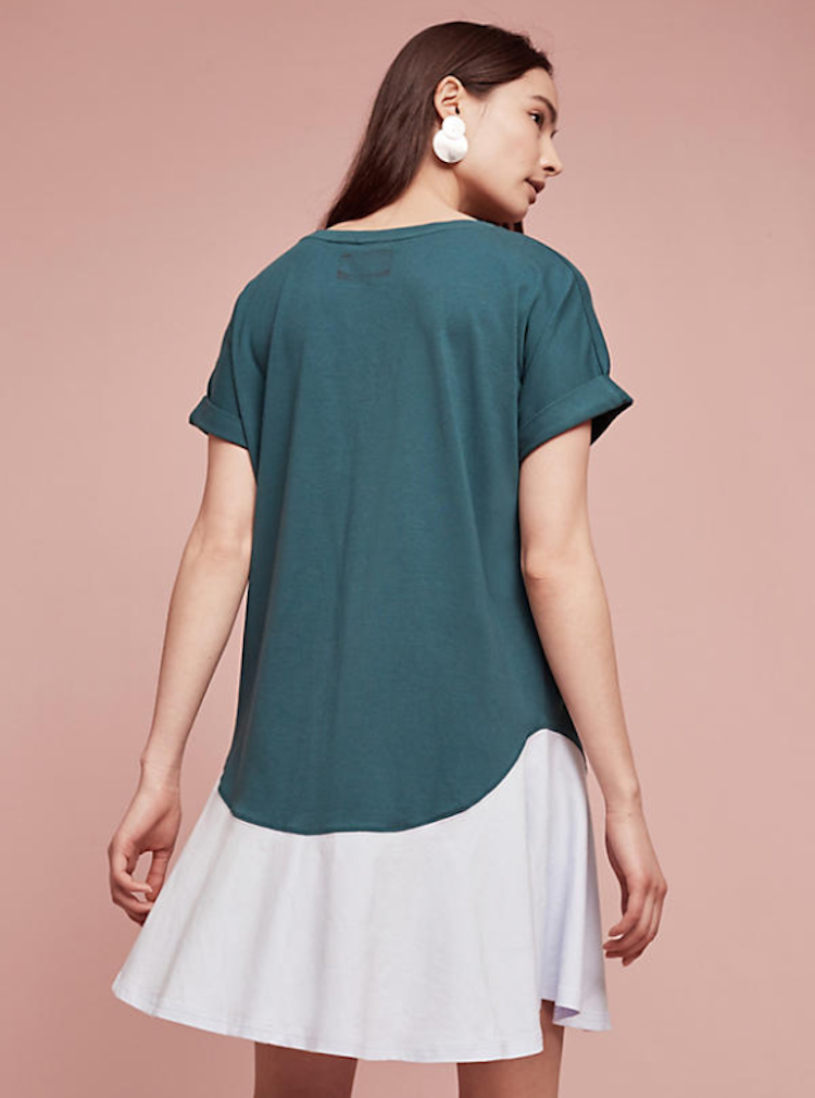 Cute green dress from Anthropologie