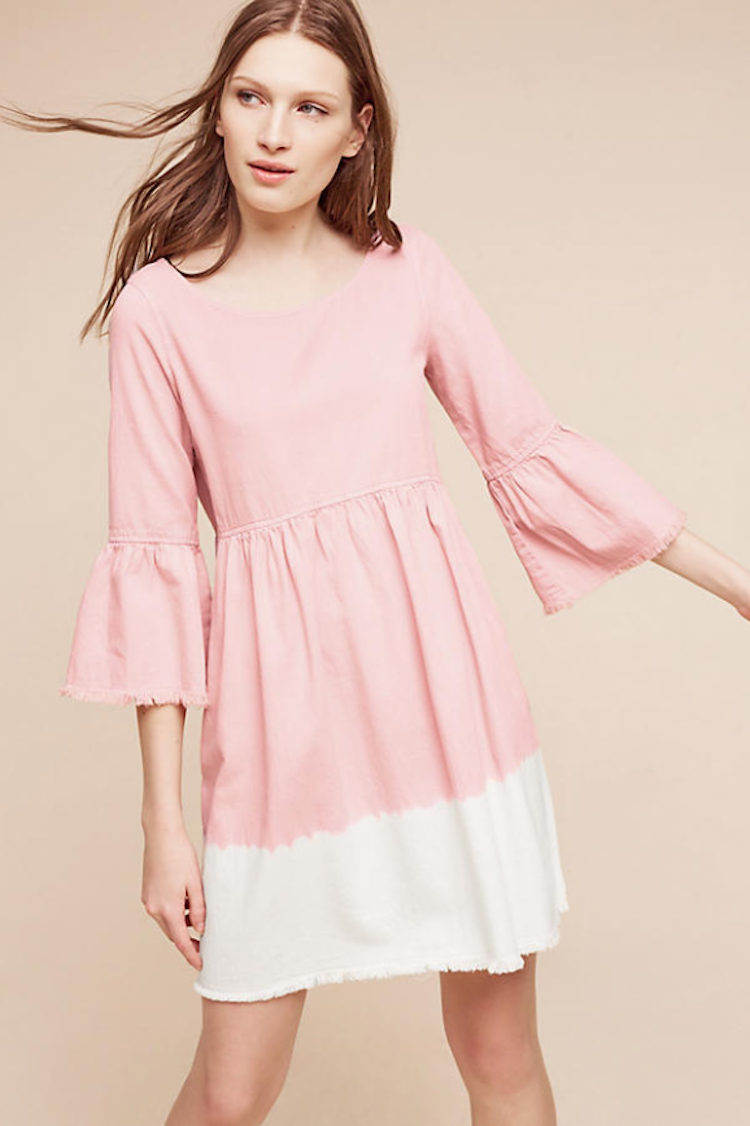 Cute pink dress from Anthropologie