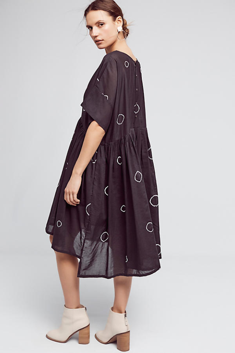 Cute black printed dress from Anthropologie